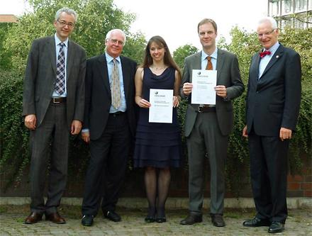 Gruppenbild der Preisträger 2012